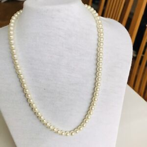 """Modern Simulated Cream Pearl Necklace By Avon 18"""""""