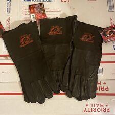 3 Steiner Industries Welding Gloves Black Leather Size Medium M 0266 Pro Series