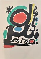 Miro Retrospective Foundation Maeght 1968 Original Limited Edition Lithograph