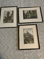 Early 20th Century Etching, Rothenburg o.d.gainer LOT 3 Signed Framed Art Work