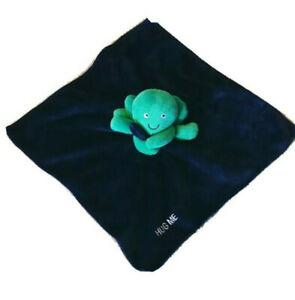 """Carters """"Hug Me"""" Octopus Lovey Navy Green Rattle Baby Toy Plush Security Blanket"""
