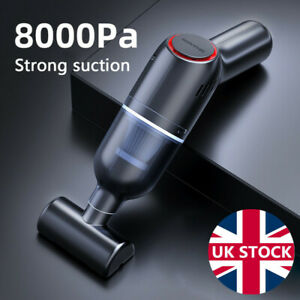 Powerful 8000Pa Handheld Car Vacuum Cleaner Portable Home Wireless Dust Buster