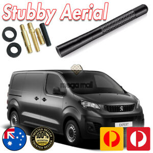 Antenna / Aerial Stubby Bee Sting for Peugeot Expert Black Carbon 12CM
