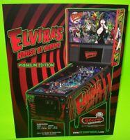 Elvira House Of Horrors Pinball FLYER Original Halloween Sexy Goth Vampire Art