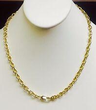 "14kt solid gold handmade link men's chain/necklace 26"" 55 grams 4.7 MM"