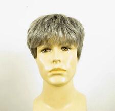 Perruque homme 100% cheveux naturel grise poivre et sel ref LAURENT 44