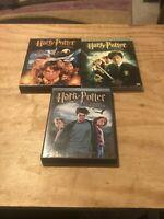 HARRY POTTER 3 LOT DVD Sorcerer's Stone, Chamber Of Secrets, Prisoner Of Azkaban
