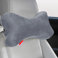 Dog Bone Car Neck Pillow Head Rest Memory Foam Travel Road Trip Posture Support