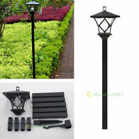 LED Solar Powered 5 ft Traditional Garden Lamp Post Lamppost Lantern Light