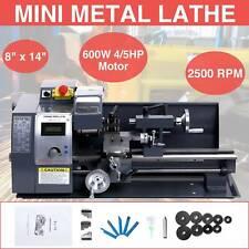 Upgraded 8�x14�600W Mini Metal Lathe Metalworking Woodworking W/5 Turning Tools