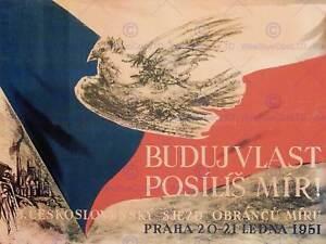 PROPAGANDA PEACE DOVE CZECH PRAGUE LARGE POSTER ART PRINT BB2504A