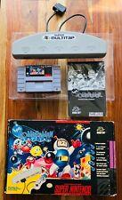 Super Bomberman Multitap Bundle Super Nintendo SNES CIB Complete Box Manual VGC