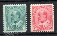 Canada KEVII 1903 1c & 2c mint LHM #174 #176 WS14151