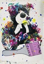 MR CLEVER ART GRAFFITI TEDDY BEAR street art urban pop contemporary avant garde