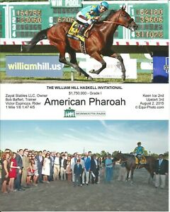 """2015 - AMERICAM PHAROAH - 2 Photo Haskell Stakes Stakes Composite - 8"""" x 10"""""""