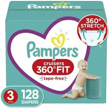 Procter & Gamble Pampers Diapers Size 3, 128 Count - Pampers Cruisers 360 Fit