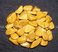 10 x Yellow Jasper Tumblestones 18mm - 22mm Crystal Gemstone Wholesale