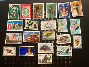 21 Mint And Used Stamps From Belize Great Mix