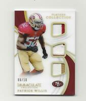 PATRICK WILLIS 2019 IMMACULATE TRIPLE GAME USED JERSEYS 6/10