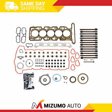 Full Gasket Set Head Bolts Fit 07-12 Chevrolet Gmc Hummer Isuzu 3.7 Dohc