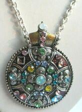 Celtic Wheel of the Year cabochon verre Tibet Argent Médaillon Collier Pendentif