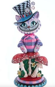 Kurt Adler Christmas Cheshire Cat Hollywood Nutcracker Alice Wonderland New 2021