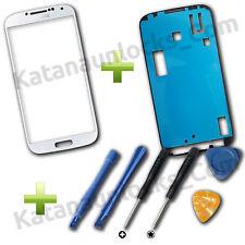 Bildschirm Glas für Samsung Galaxy S4 i9500 i9505 Weiß + Werkzeuge und Klebe