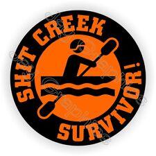 $hit Creek Survivor Funny Helmet Sticker / Hard Hat Decal Label / Safety Foreman