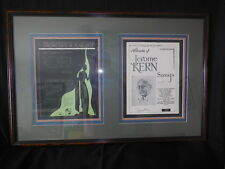 "Jerome Kern Signed 1945 Sheet Music Framed & Tripple Matted ""Roberta"" 22"" x 34"""