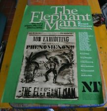 Theatre poster - The Elephant Man - National Theatre production