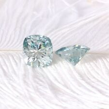Blue Color Genuine Loose Moissanite 1.00 Ct Cushion Cut VVS1 For Engagement Ring