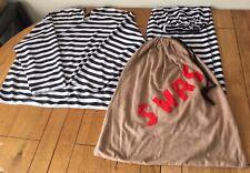 3 Piece Bank Robber Fancy Dress Costume Thief Burglar Swag Criminal Men's M/L