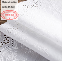 Embroidery Floral Lace Trim Ribbon Cotton Fabric Wedding Sewing 19cm wide FL288