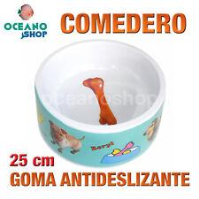 COMEDERO GATO PERRO GOMA ANTIDESLIZANTE DISEÑO PERRO PLÁSTICO 25 cm L119 0262