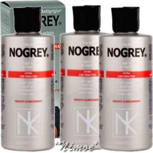 Nogrey Elio Extra With Keratin 3 X 200ml Nicky Chini Lotion Antigrey Antigrigi