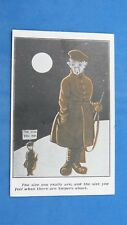 WW1 Vintage Comic Postcard 1914 1918 SNIPER Tommy Trench Life Guard Duty Theme