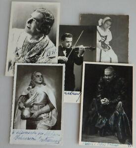 Fundgrube = 5 Autogramme Oper, Konzert, Musik, Bühne ab 1918 (76659)