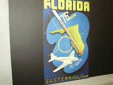 Eastern  AirlinesTravel Poster Florida   From American Express Travel Office