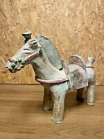 "GRAND CHEVAL TERRE CUITE ANCIEN, "" HANIWA "" JAPON, POLYCHROME, ART ASIATIQUE"