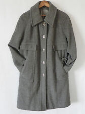 Vtg Forecaster Winter Coat  Wool Blend Grey Size 13/14  Medal Twist Lock Buttons