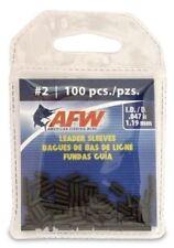 Afw #2 Black Leader Sleeves .047 in (1.19mm) New! #J02B-B 100 Pack Single Barrel