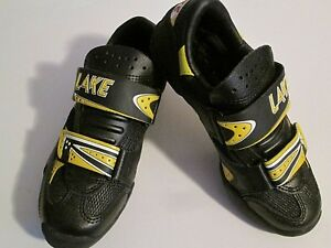 NEW LAKE CYCLING Women's Size 5.5 MX81W Black & Yellow Shoes EU 36 Mountain