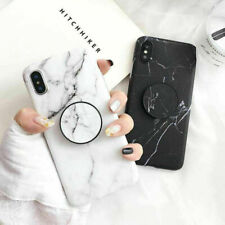 Marble Case With Pop Up Holder Phone Case iPhone 11 8 Plus 7 6s XR Socket Relief
