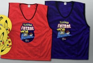 """10 Pokemon Futsal Red and Blue Bibs - Youth 28"""" Official FA Football Pikachu"""