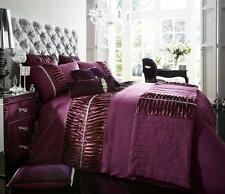 diamante 5pcs bed in bag bedding sets duvet covers with runner and cushion cover king aubergine