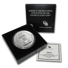 2010-P 5 oz Silver ATB Hot Springs, AR - with Box and Certificate - SKU #65524
