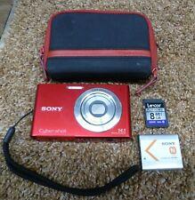 Sony Cyber-Shot DSC-W330 14.1MP HD Digital Camera 4x Optical Zoom Lens - Red T