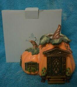 Partylite PUMPKIN COTTAGE Tealight Candle Holder P8209 Halloween Thanksgiving