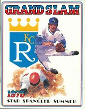 1976 Kansas City Royals vs. Minnesota Twins Program/Scorecard