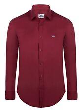 Lacoste Herren Hemd 2711352 Shirt Slim Fit mit Kragen Rot